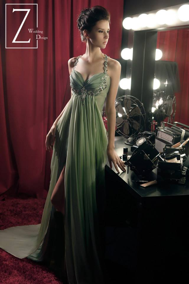 thin-strapped-green-gown