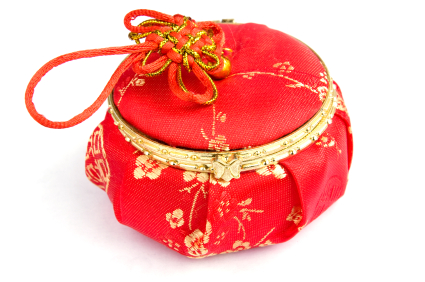 chinese wedding red box isolated
