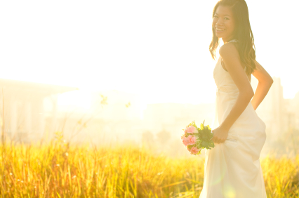 Bride on Field