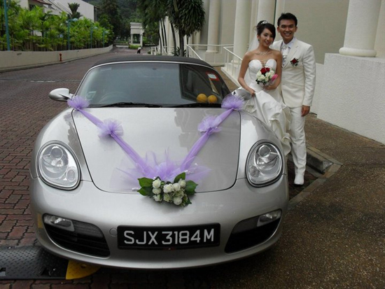 Wedding Picture with Boxster